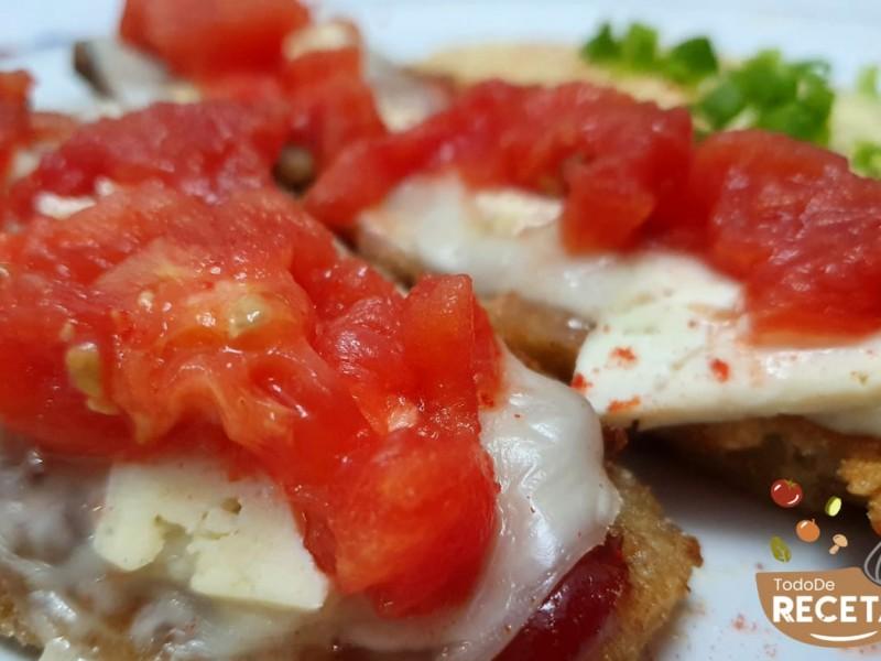 Milanesa de Zucchini con Pure de Papas